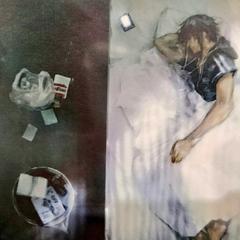 Noctis sleeping in his room in Insomnia.