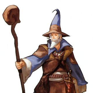 Concept art of a Black Mage.
