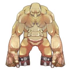 Akira Oguro artwork of Titan for <i>Final Fantasy IV</i> (DS).