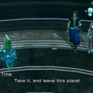 Serah and Noel obtain a fragment at Coliseum.