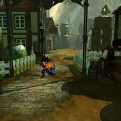 Zack and Cloud escape Nibelheim in <i>Final Fantasy VII</i>.