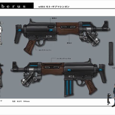 Submachine gun concept.