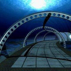Underwater tunnel.