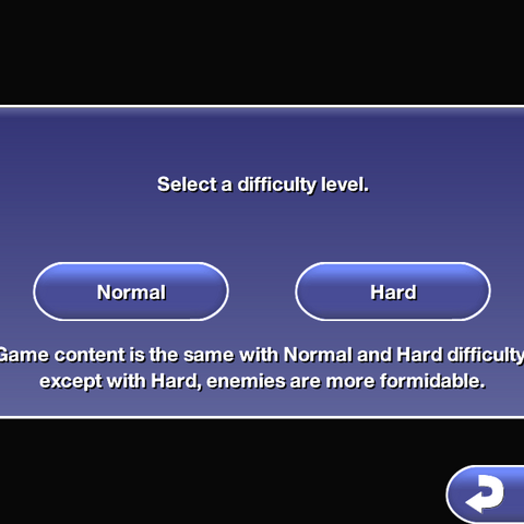 Choosing the difficulty mode in <i><a href=