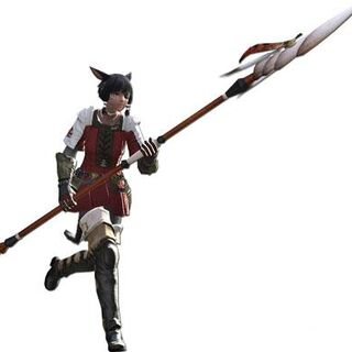 Lancer render for the original <i>Final Fantasy XIV</i>.