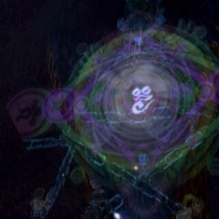 Anima emerging from her glyph.
