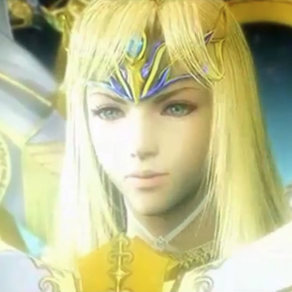 Close-up of Minerva's face.