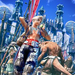 Promotional artwork of Vaan in Rabanastre.