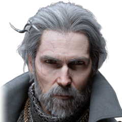 A render of King Regis's head and shoulders.