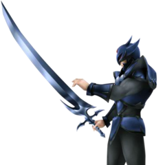 Render of Cecil's SD appearance as a Dark Knight.