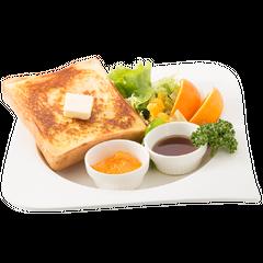 La Noscea toast with La Noscea's orange sauce