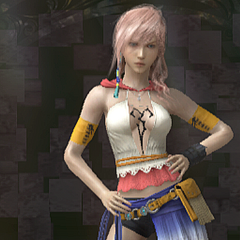 Yuna's Gunner dressphere attire in <i>Lightning Returns: Final Fantasy XIII</i>.
