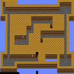Castle Palamecia's Second Floor (NES).