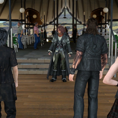 The party meets Ardyn at Galdin Quay.