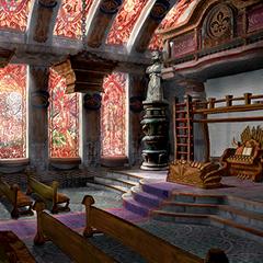 Inside of the church in <i>Final Fantasy IX</i>.