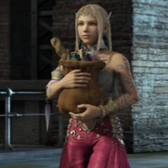 Penelo during the ending of <i>Final Fantasy XII</i>.