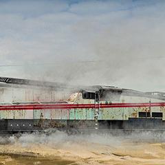 Transcontinental train.