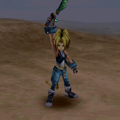 Zidane's victory pose with a dagger.