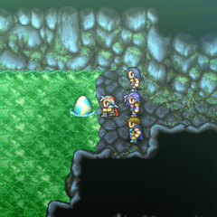 The Wyvern Egg placed in the springs (PSP).