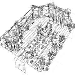 Concept art of Don Corneo's mansion.