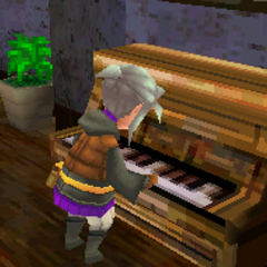 Luneth playing a piano (DS).
