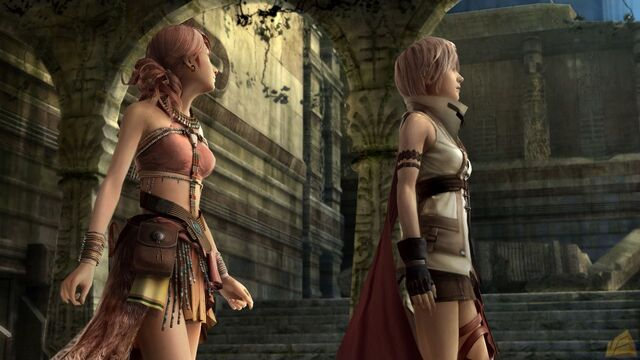File:FFXIII Lightning Pig Tail Woman.jpg