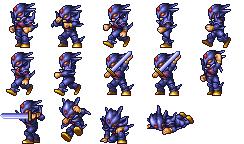 Сесил в качестве темного рыцаря (PSP).