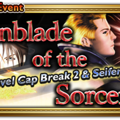 Global event banner for Gunblade of the Sorceress.