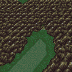 Mt. Kolts on the World Map (SNES).