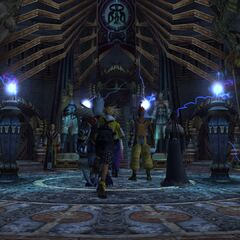 Inside Djose Temple in <i>Final Fantasy X</i>.