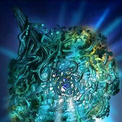 Concept artwork of the Iifa Tree binding Gaia's crystal.