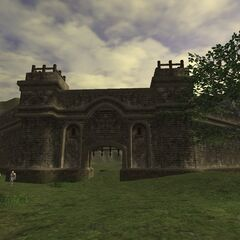 The walls around Jeuno.