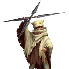 Render of Yuffie's cloak in <i>Dirge of Cerberus</i>.