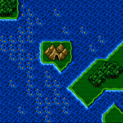 Adamant Isle Grotto on the World Map (SNES)