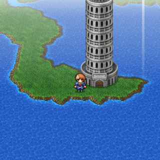 Tower of Trials on the world map (PSP).