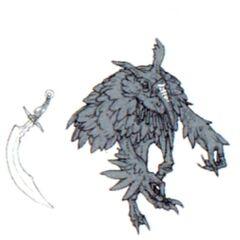 Concept art of the Yagudo.