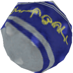 Wakka's blitzball weapon in-game.