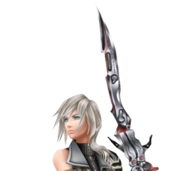 Render of Lightning's Yoshitaka Amano design from <i>Dissidia 012</i>.