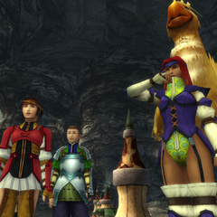 The Chocobo Knights in Djose in <i>Final Fantasy X</i>.