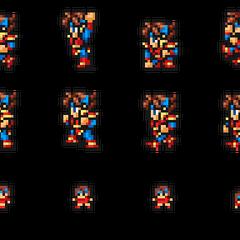 Set of Knight sprites.