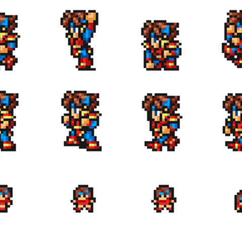 Set of Bartz's Knight sprites.