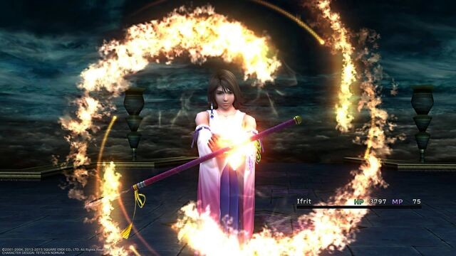 File:Yuna summons ifrit.jpg