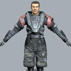 Gray 3D Model.