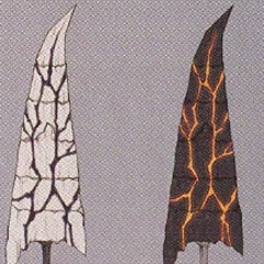 Concept art of Garland's sword in his third outfit.