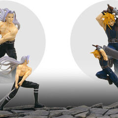 Cloud vs Sephiroth cold cast statue.