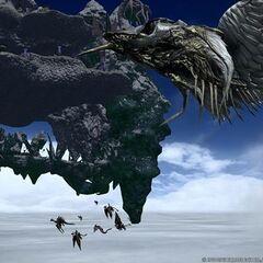 Bismarck as seen in <i>Heavensward</i> benchmark video