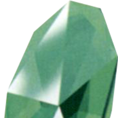Green Huge Materia as depicted in the <i>Final Fantasy VII Ultimania Omega</i>.