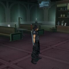 Inside the Cargo Ship in <i>Crisis Core -Final Fantasy VII-</i>.
