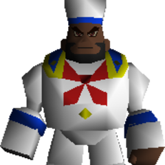 Barret in a sailor outfit.