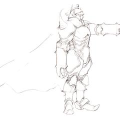 Akira Oguro sketch of Golbez (DS).